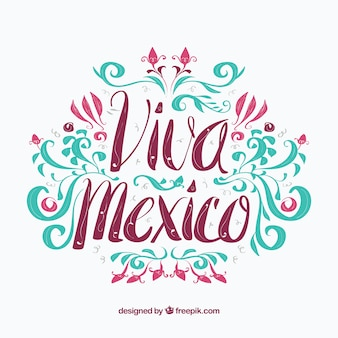 Colorful mexico background