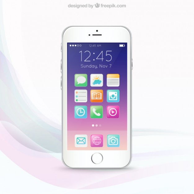 Colorful mobile phone screen