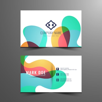 Colorful modern business card design
