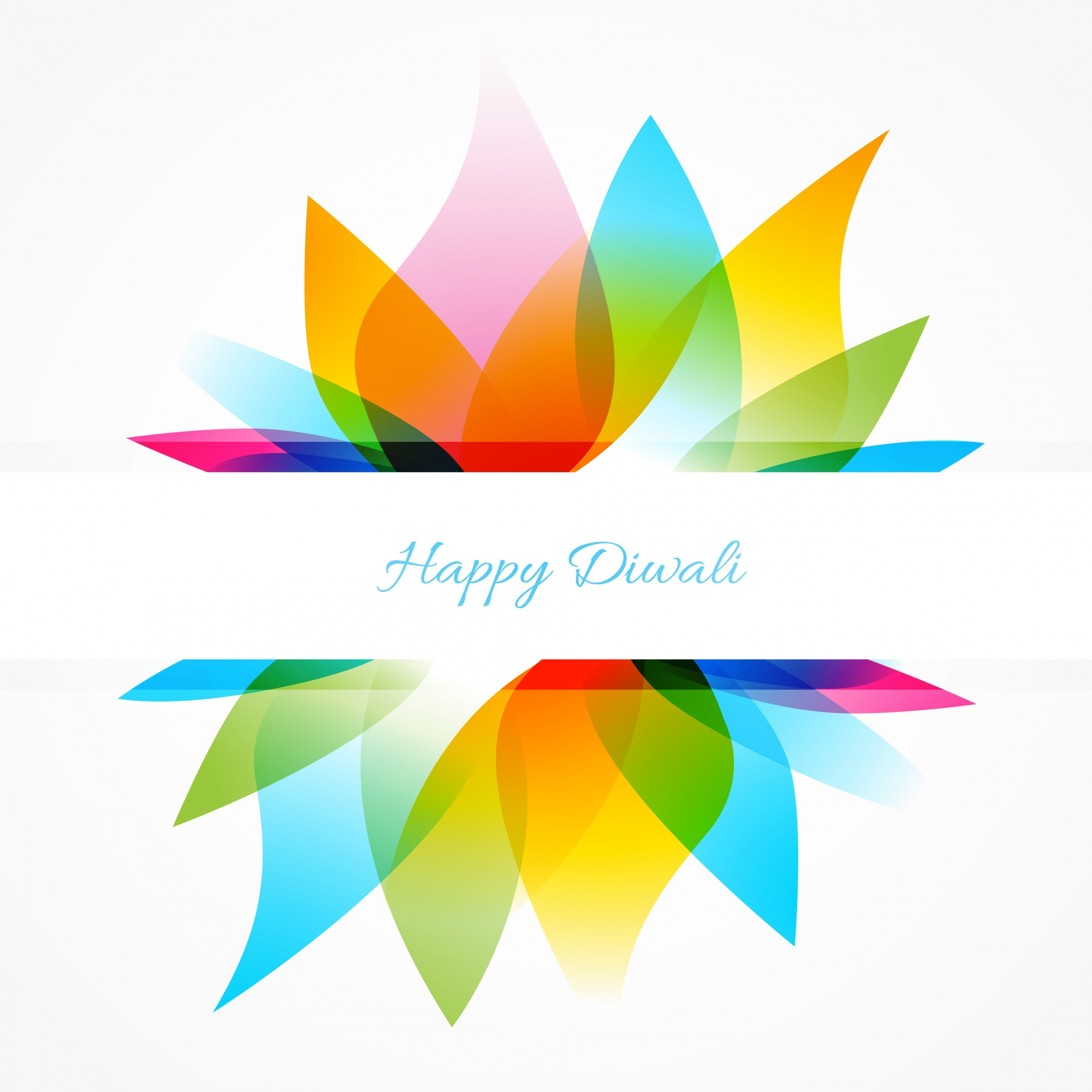 Colorful modern diwali design