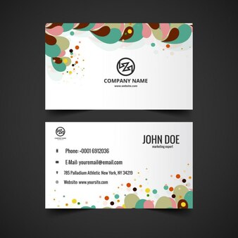 Colorful modern visiting card