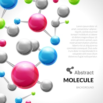 Colorful molecular background
