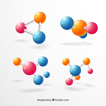 Colorful molecules with cute style