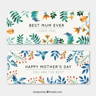 Colorful Mother's Day banners
