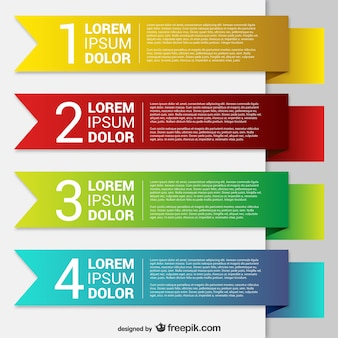 Colorful origami banner templates