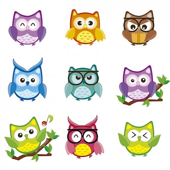 colorful cute owl vector - photo #3