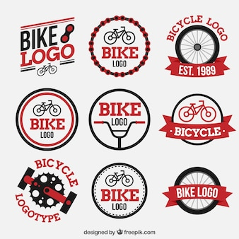Colorful pack of modern bike logos