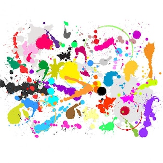Colorful paint spashes background