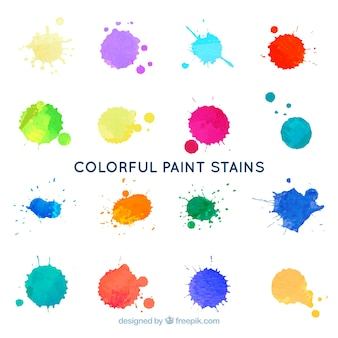 Colorful paint stains