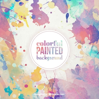 Colorful painted background