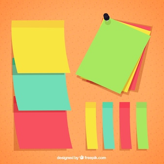 Colorful paper notes for messages