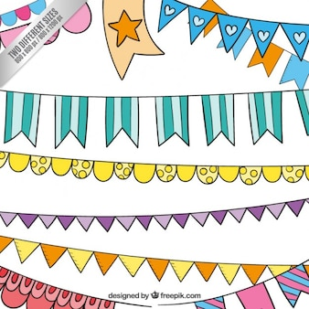 Colorful party buntings