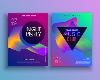 Colorful party flyer template