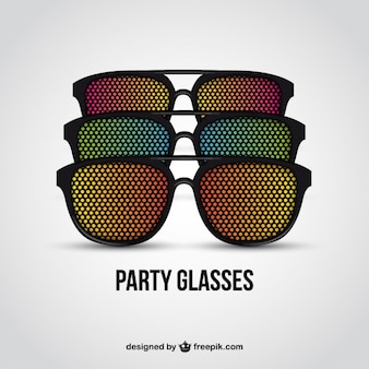 Colorful party glasses