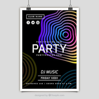 Colorful party poster