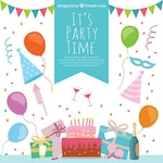 Colorful party time decoration