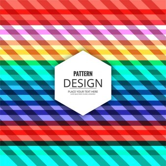Colorful pattern of abstract shapes and stripes
