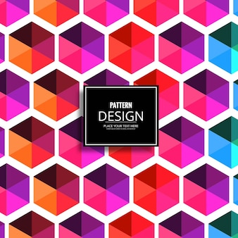 Colorful pattern with hexagonal shapes