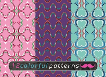 Colorful patterns vector backgrounds