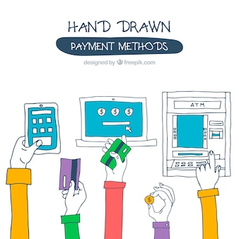 Colorful payment methods background