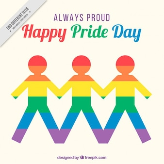Colorful people pride day background