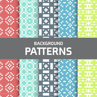Colorful pixel patterns collection