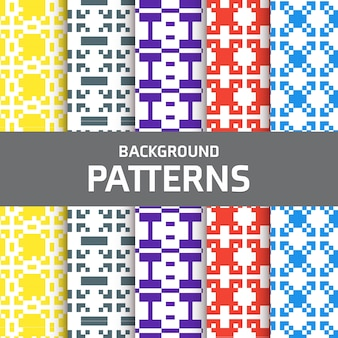 Colorful pixel patterns