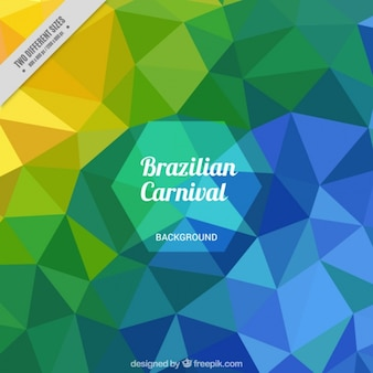 Colorful polygonal background of carnival