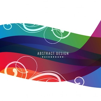 Colorful polygonal background with wavy shapes