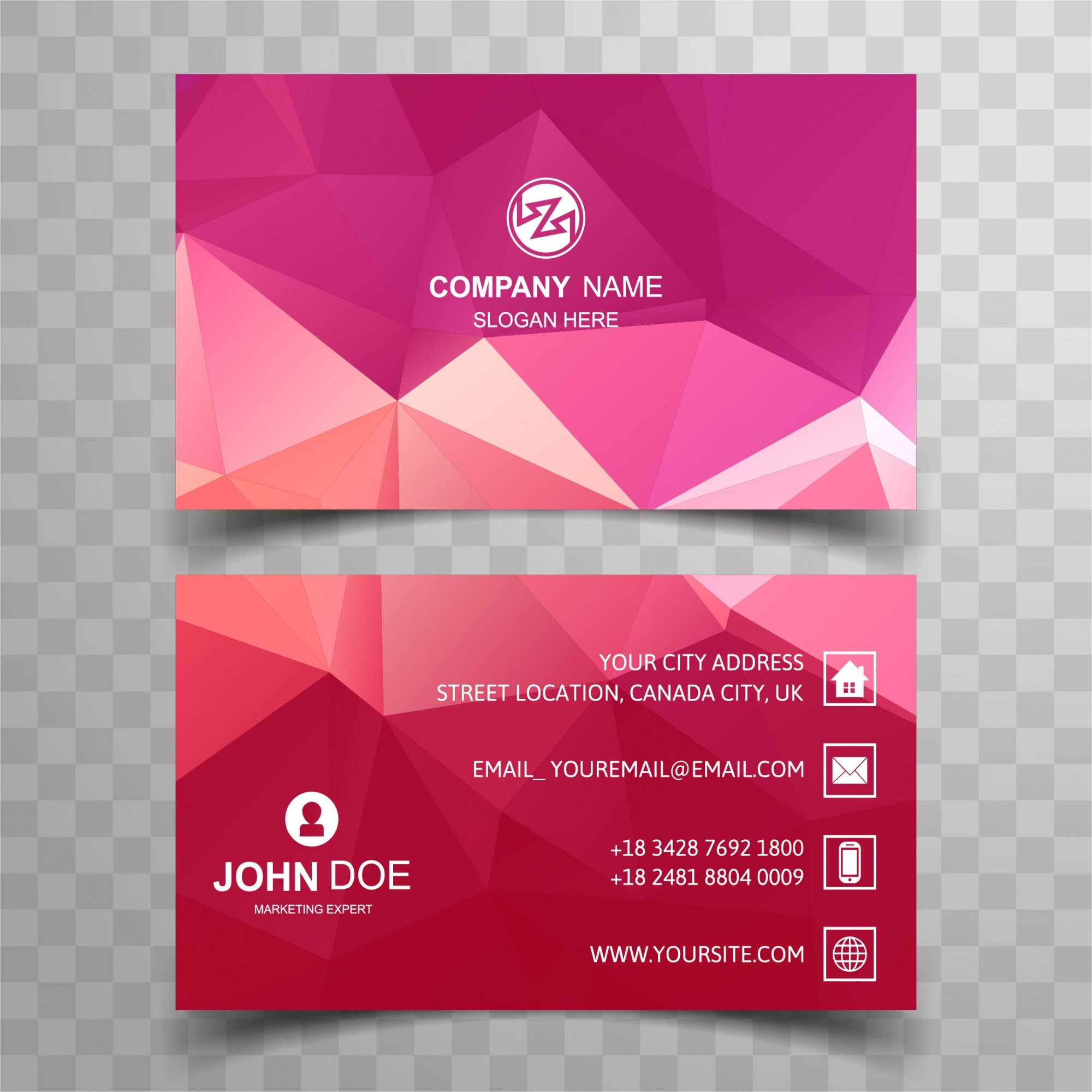 Colorful polygonal business card