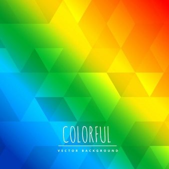 Colorful polygonal shapes background with triangle patterns