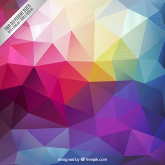 Colorful polygons background