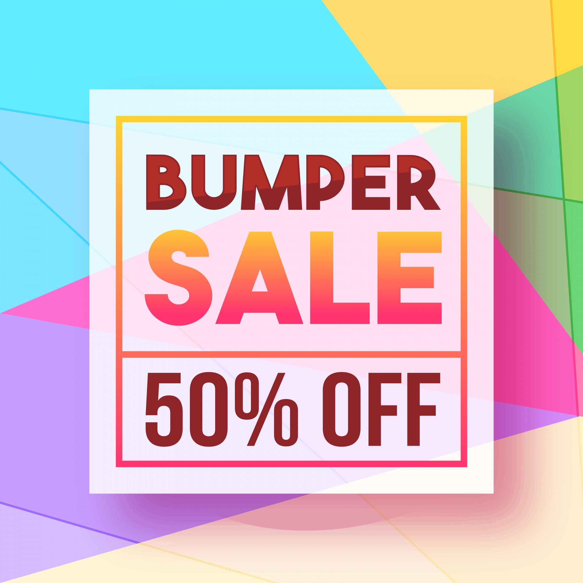 Colorful Poster, Banner for Bumper Sale.