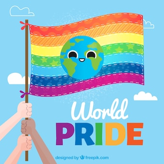 Colorful pride day banner background