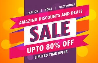 Colorful promotional sales banner design