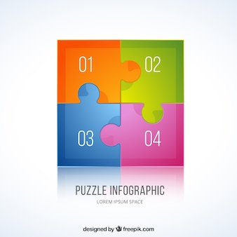 Colorful puzzle infographic