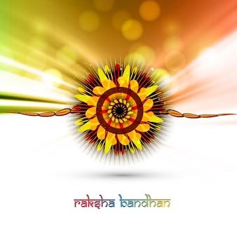 Colorful raksha bandhan background