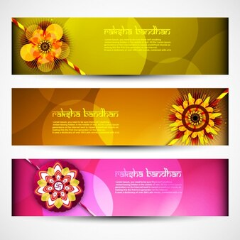 Colorful Raksha-Bandhan banners