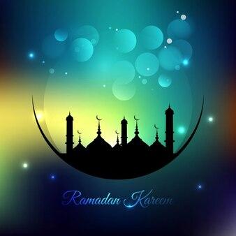 Colorful ramadan background