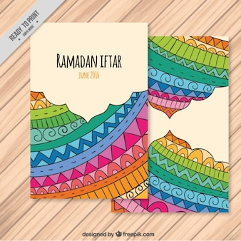 Colorful ramadan poster