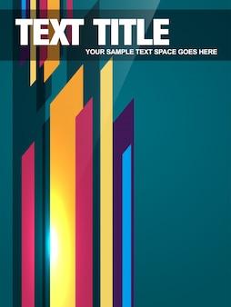 Colorful retro flyer template