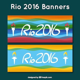 Colorful rio banners