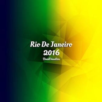 Colorful rio de janeiro 2016 polygonal background