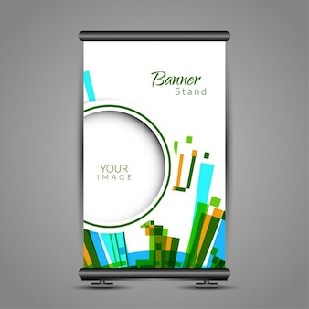 Colorful roll up template