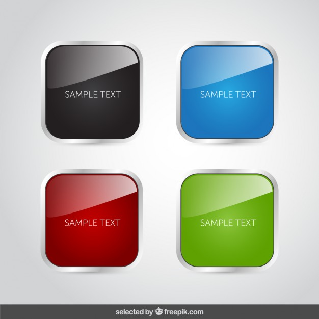 Colorful rounded square banners