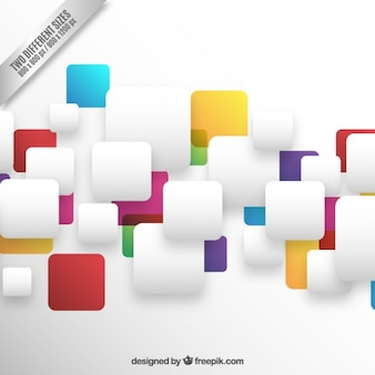 Colorful rounded squares composition