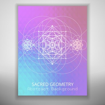 Colorful sacred geometry background