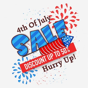 Colorful sale background for usa independence day