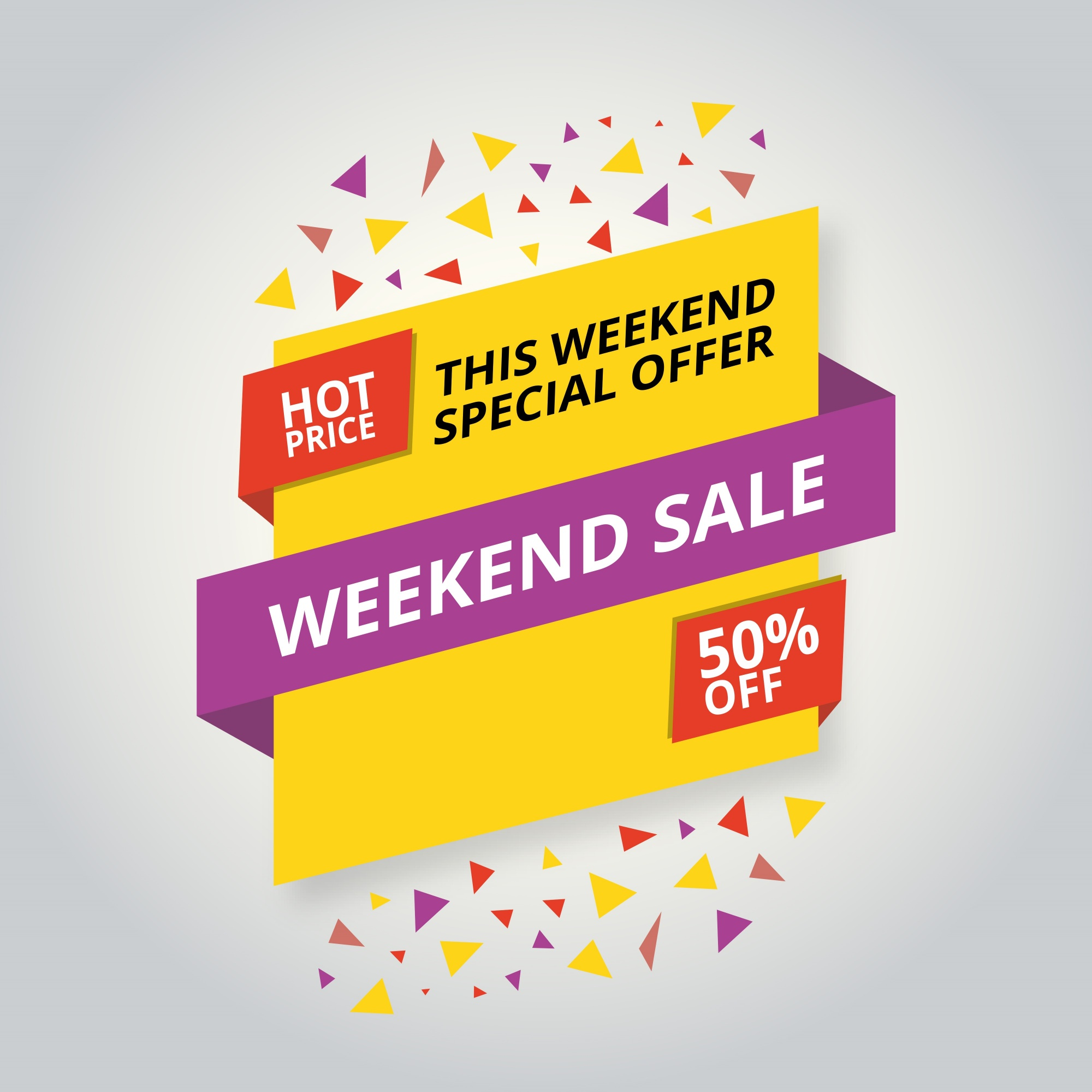 Colorful sale banner design template