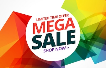 Colorful sale banner